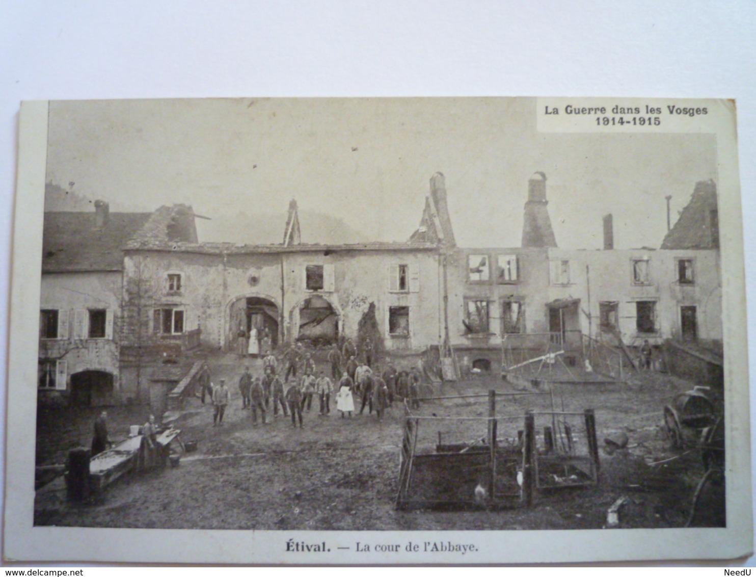GP 2019 - 1159  ETIVAL  (VOSGES)  :  La Cour De L'Abbaye    XXX - Etival Clairefontaine