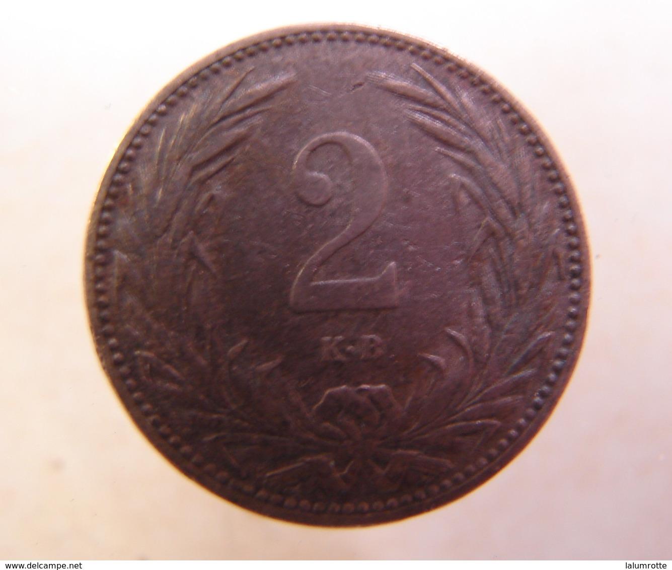 Monnaie. 13. Hungria. 2 Filler 1901. - Hongarije