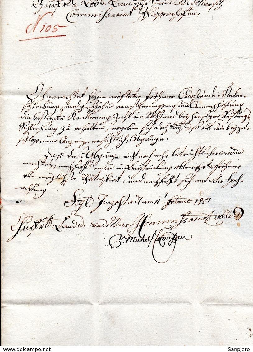 RARE ENVELOPE LETTER GERMANY VORPHILA 1801. - Germania