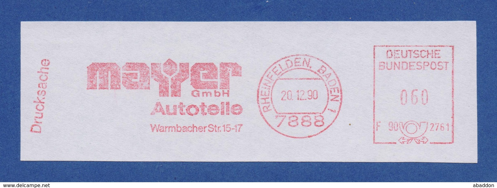 BRD ASF - RHEINFELDEN, Mayer GmbH - Autoteile 20.12.90 - Transports