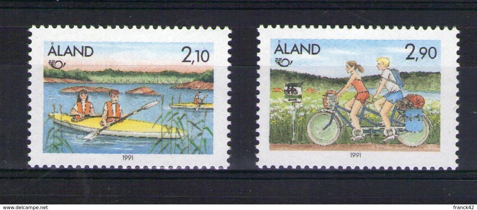 Aland. Norden 91. Tourisme Dans Les Régions Nordiques. Canoé Et Cyclisme - Aland