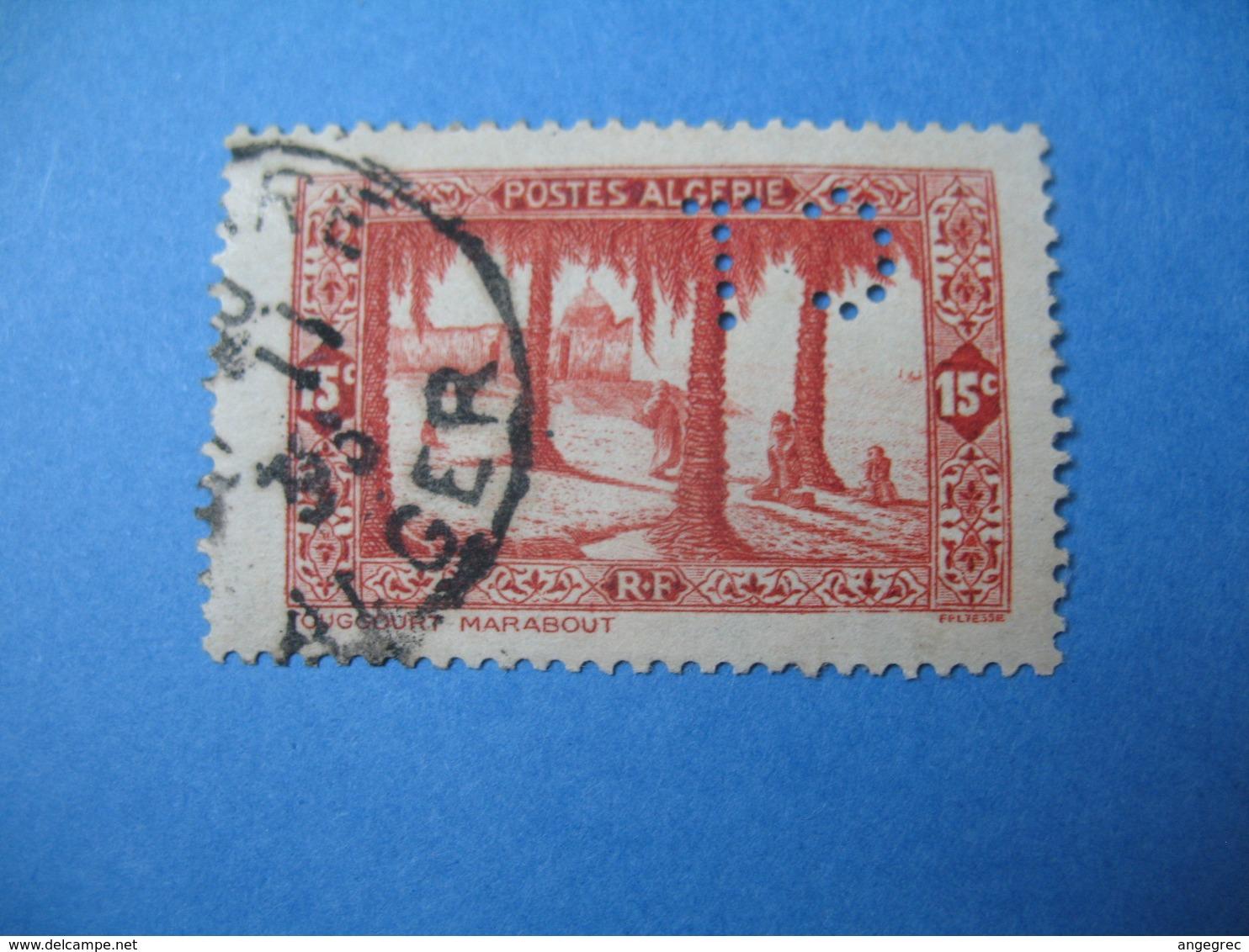 Perforé  Perfin  Algérie ,   Perforation :  CT17    à Voir - Algérie (1924-1962)