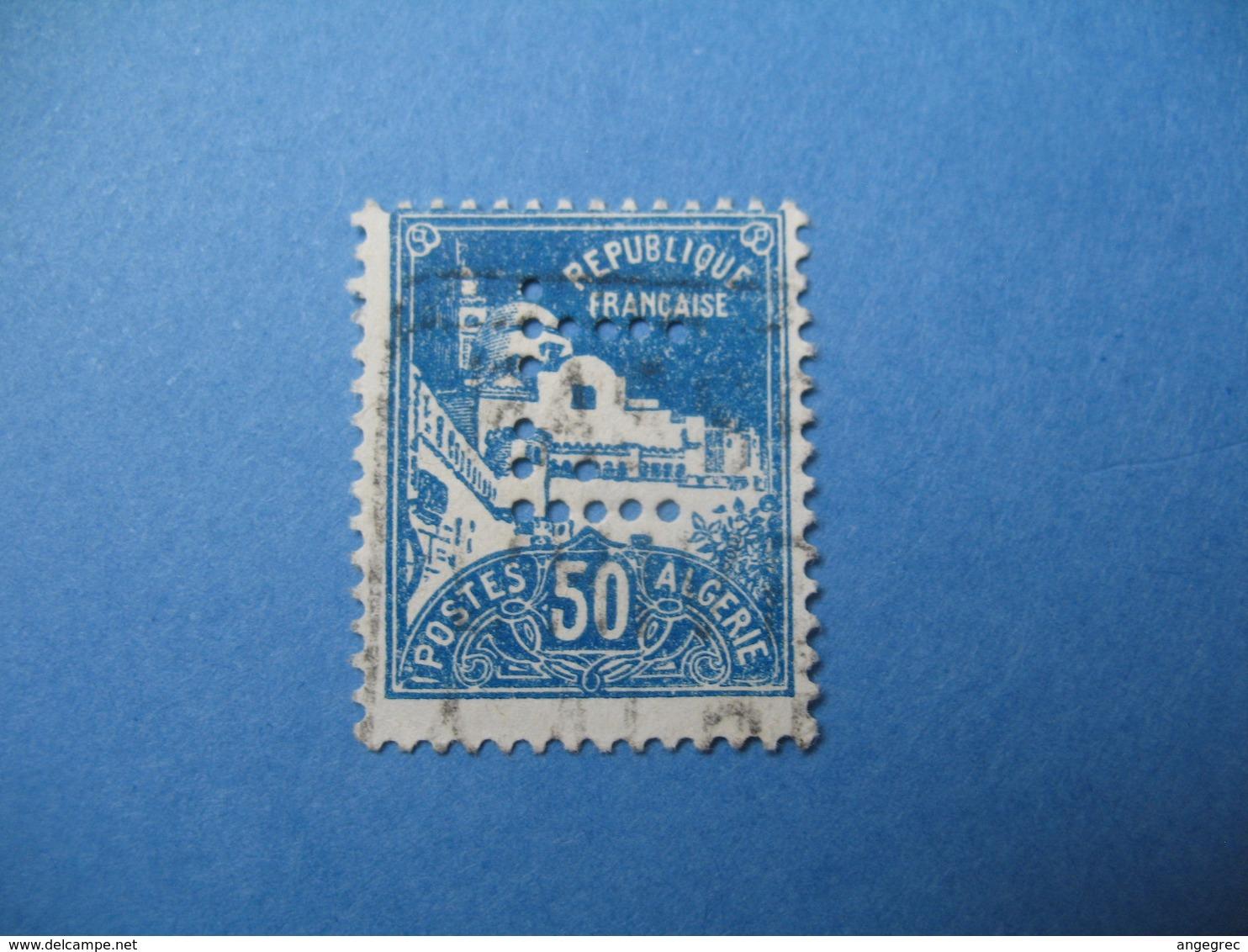 Perforé  Perfin  Algérie ,   Perforation :  FT20    à Voir - Algérie (1924-1962)