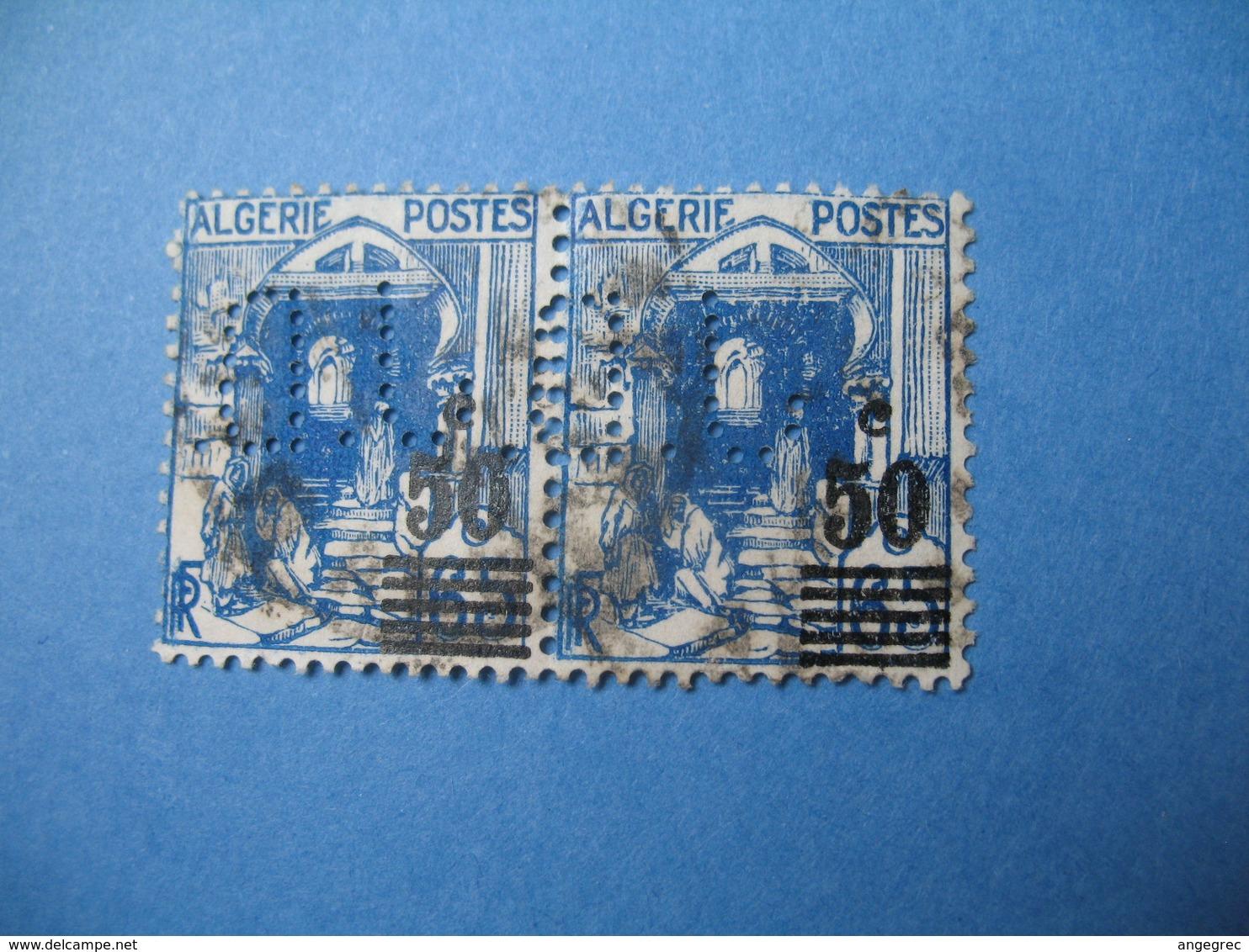 Perforé  Perfin  Algérie ,   Perforation :  JD23    à Voir - Algérie (1924-1962)