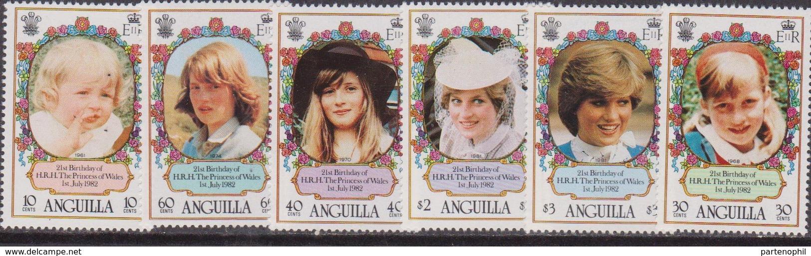 Anguilla  -  1982 Diana Set  MNH - Anguilla (1968-...)