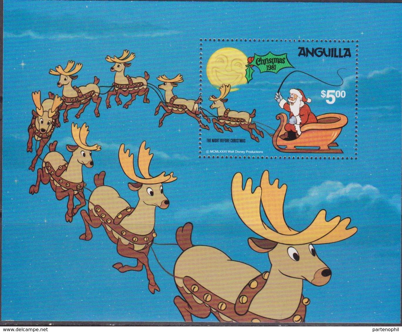 Anguilla  - 1981 Natale Christmas Navidad DISNEY Sheet MNH - Anguilla (1968-...)