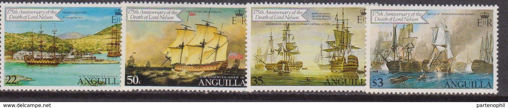 Anguilla  - 1982 Navi Ships Set MNH - Anguilla (1968-...)