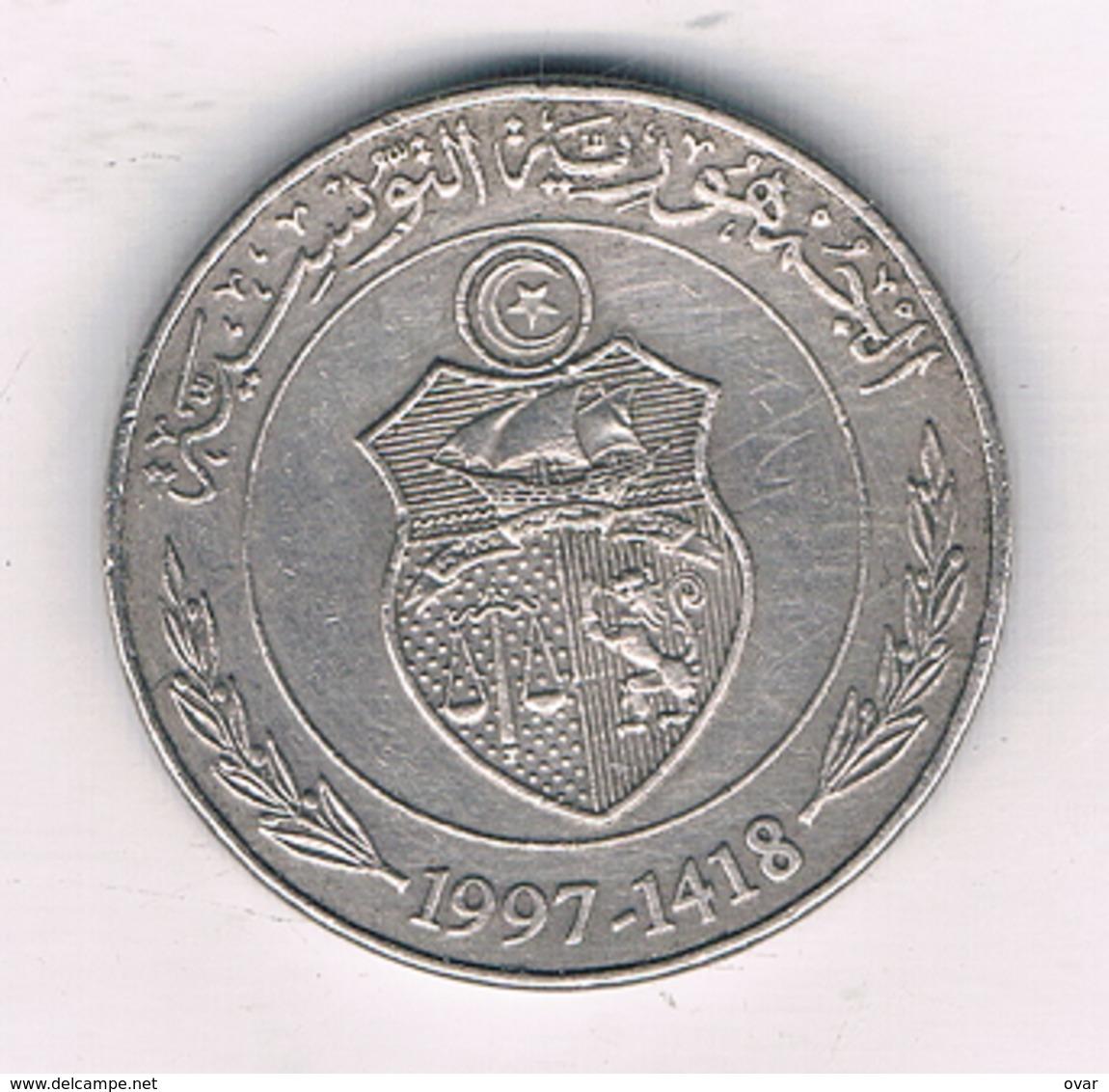 1/2 DINAR  1997 TUNESIE /3990/ - Tunisia