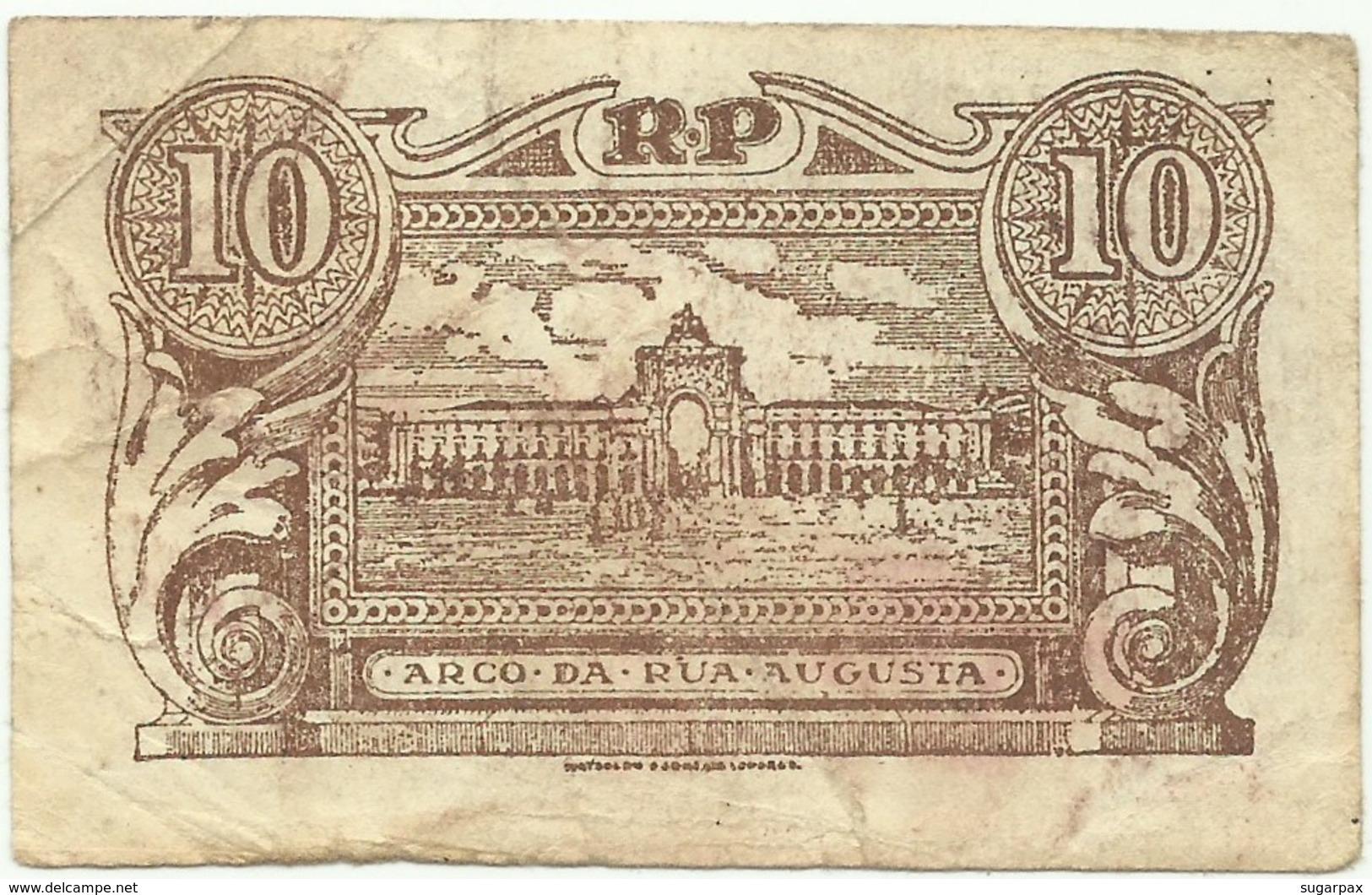 CÉDULA De 10 Centavos - SÉRIE A 2 - CASA Da MOEDA - M. A. N.º 10 - Portugal Emergency Paper Money - Notgeld - Portugal