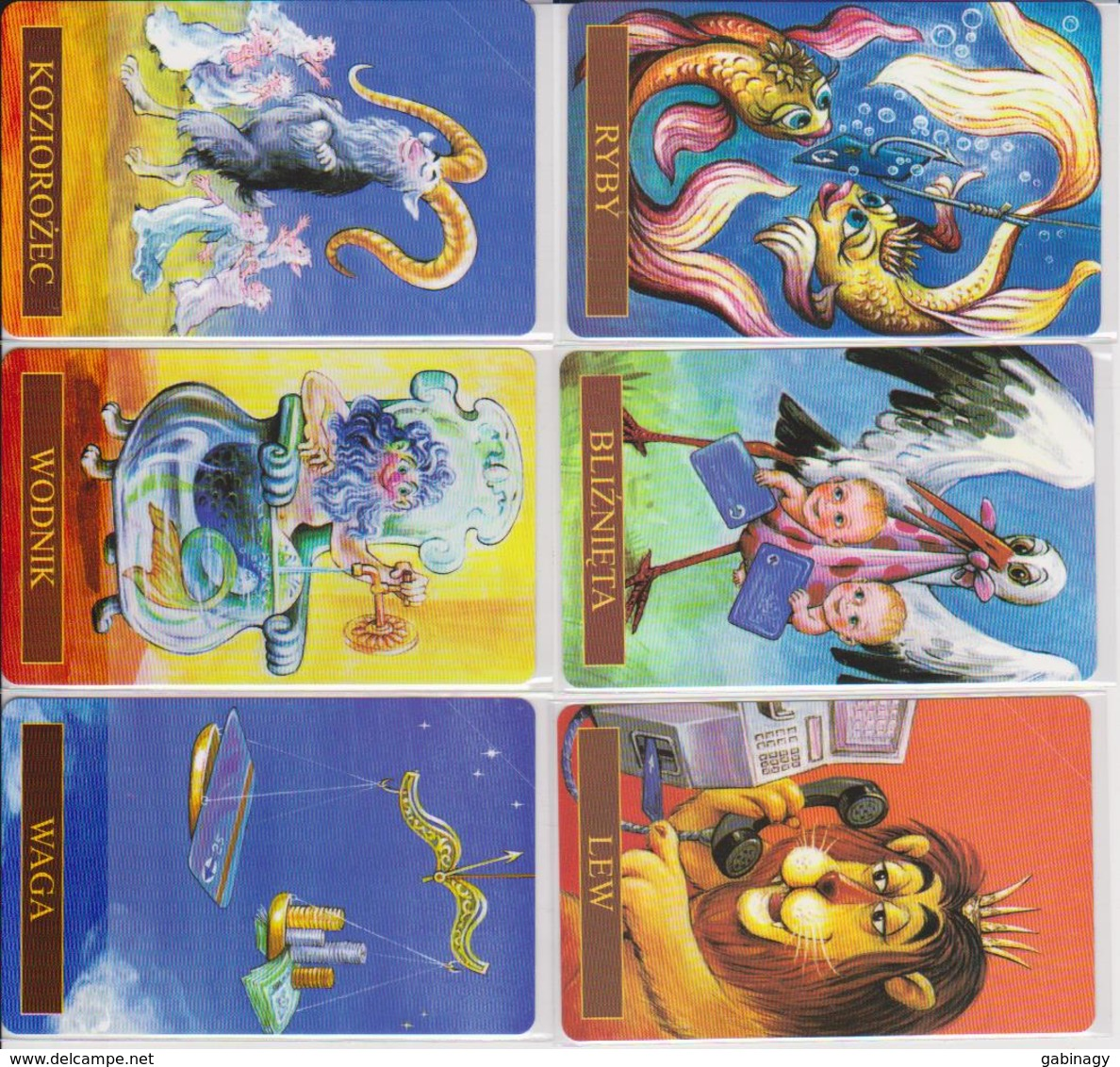 POLAND - COMPLETE SET OF 12 CARDS - ZODIAC - HOROSCOPE - 100EX. - MINT - RARE! - Zodiaco
