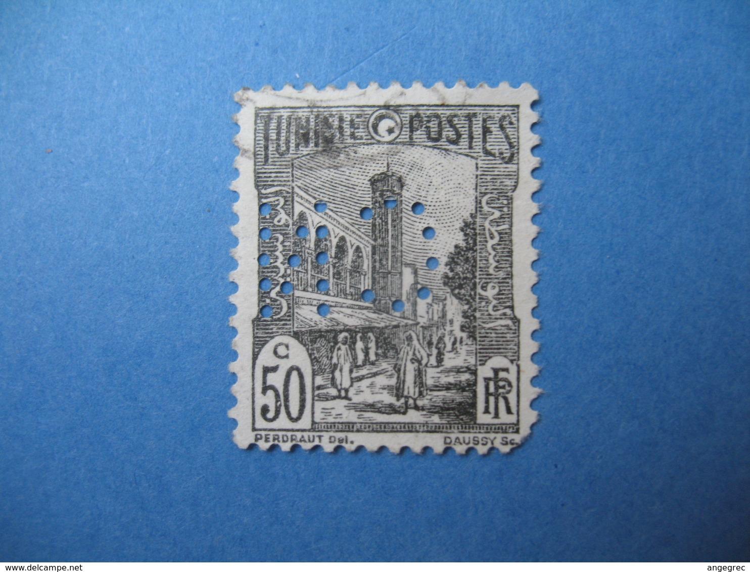 Perforé  Perfin   Tunisie ,   Perforation :   CN 8    à Voir - Tunisie (1888-1955)