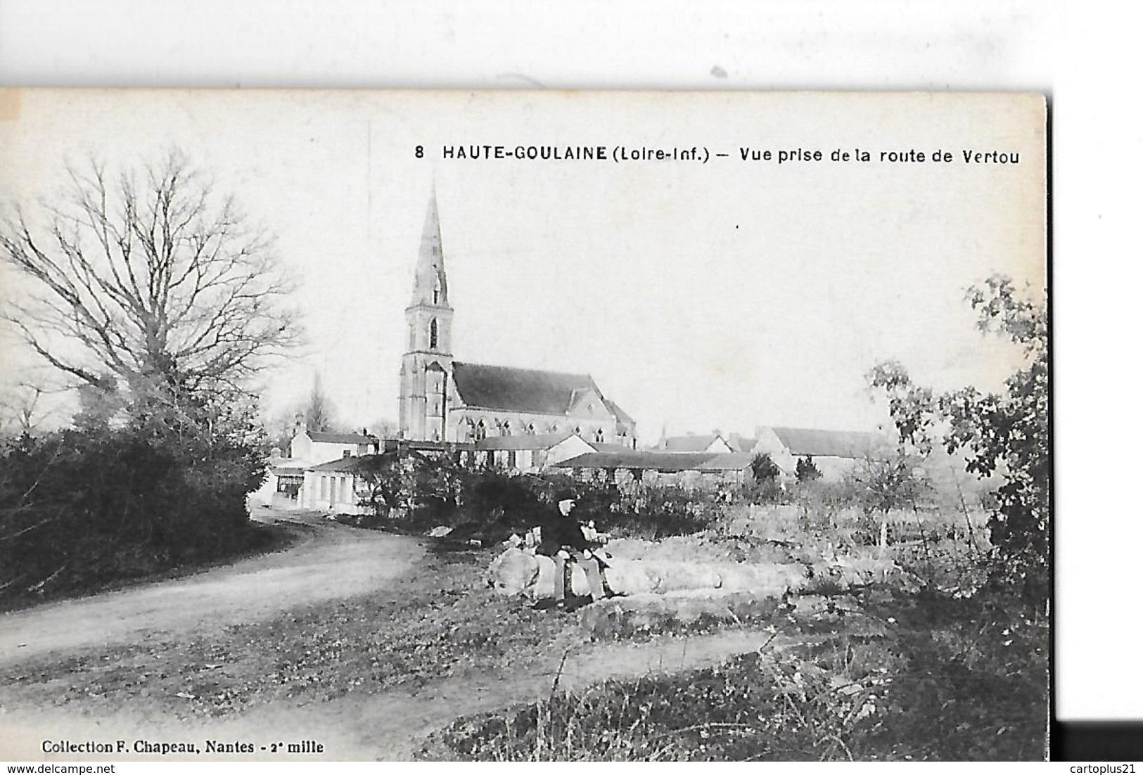HAUTE GOULAINE   N 8   VUE PRISE DE LA ROUTE DE VERTOU  HOMME ASSIS      DEPT 44 - Haute-Goulaine
