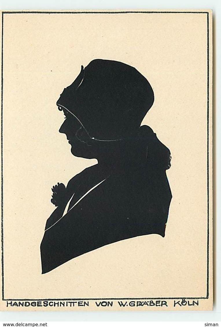 N°12509  Silhouette D'une Femme - Handgeschnitten Von W.Graver Koln - Silhouettes