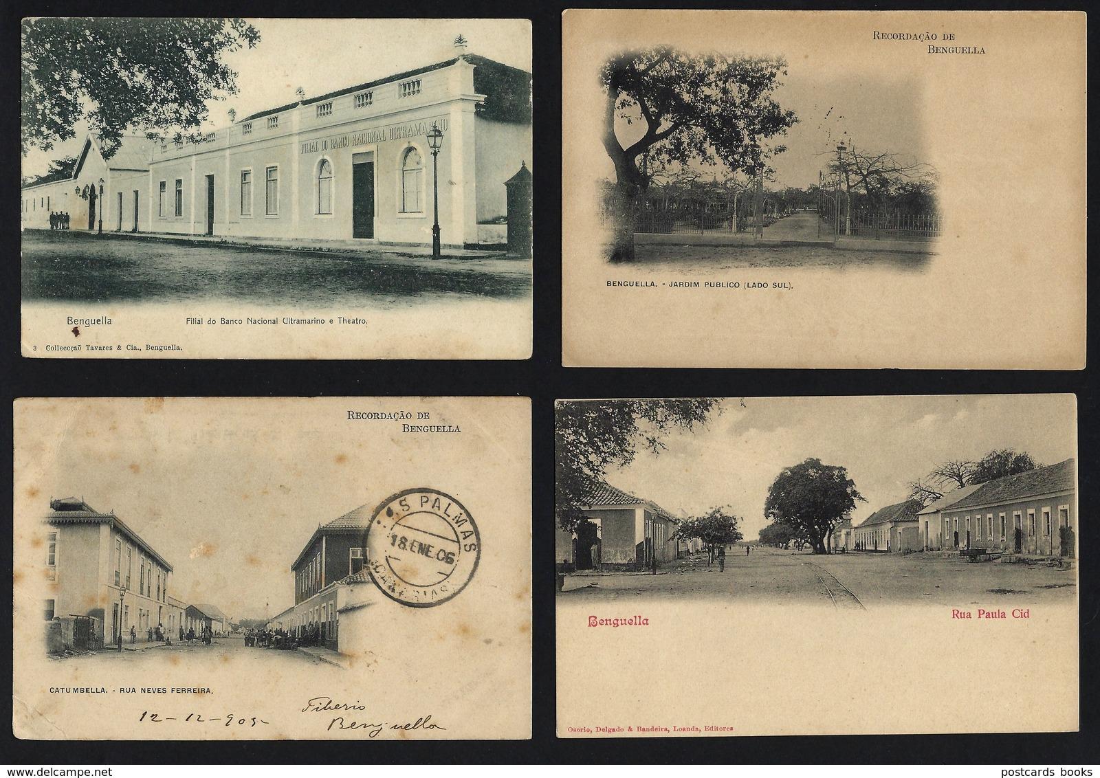 Conjunto 16 Postais BENGUELLA Benguela: Hotel, Banco, Alfandega. SET Of 16 Old Postcards ANGOLA 1900s AFRICA - Angola