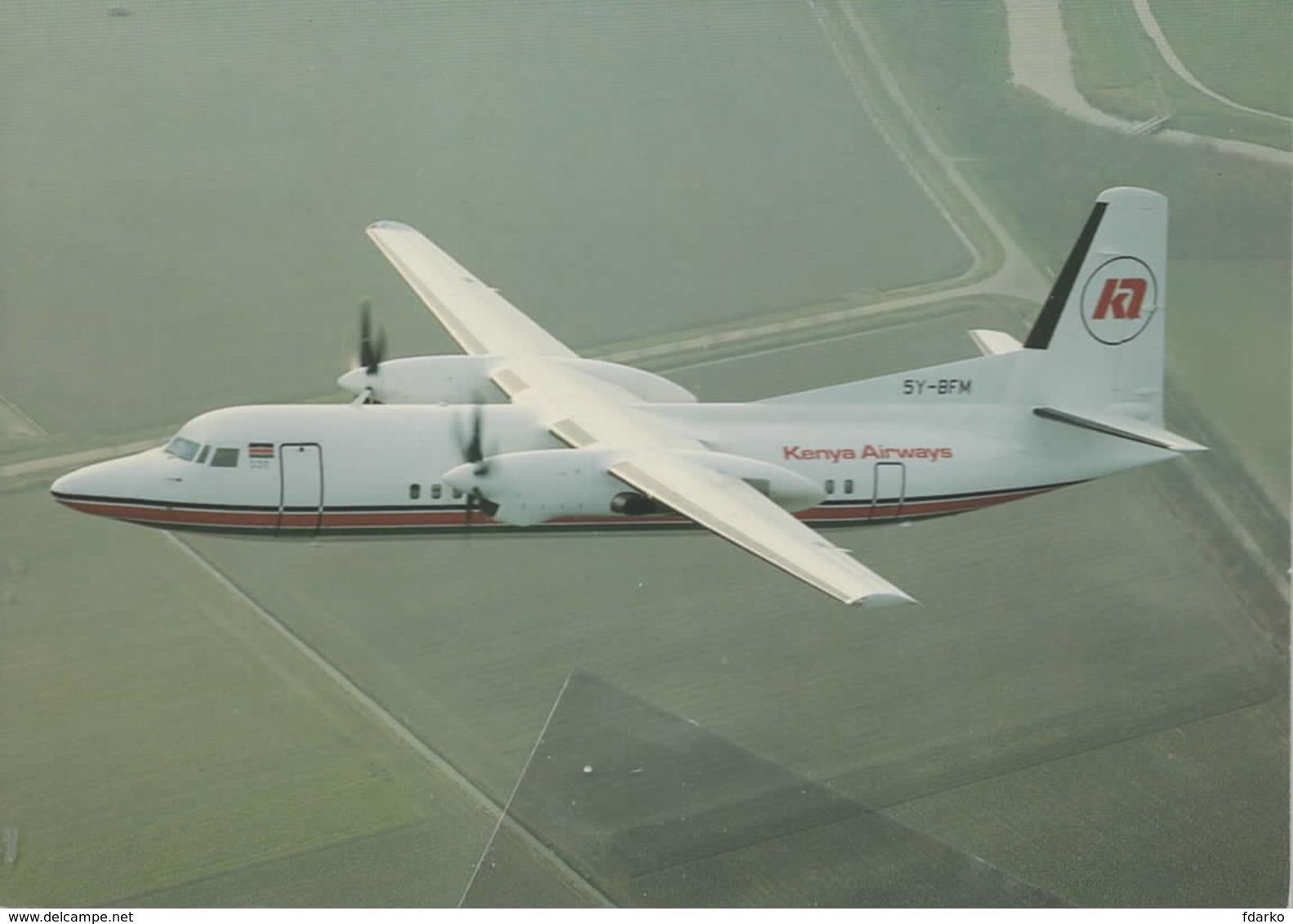 Kenya Airways Fokker 50 FK-50 5Y-BFM - 1946-....: Era Moderna