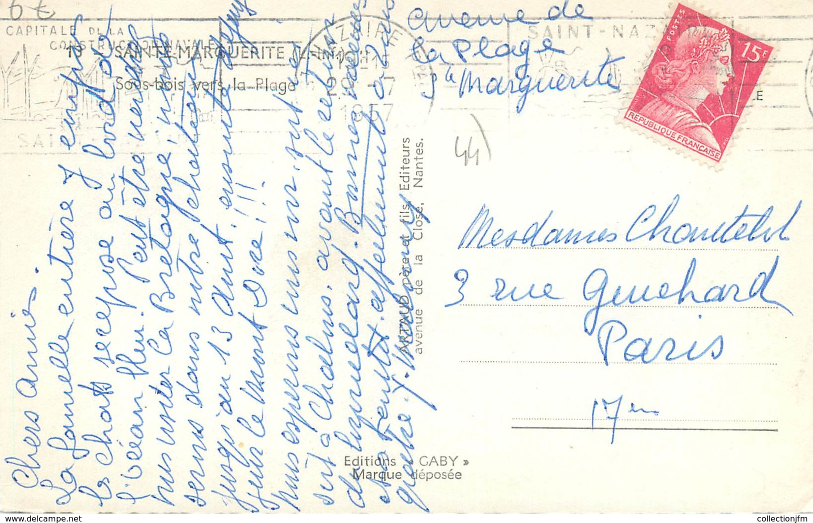 """CPSM FRANCE 44 """"Sainte Marguerite, Sous Bois Vers La Plage"""" - Pornichet"""