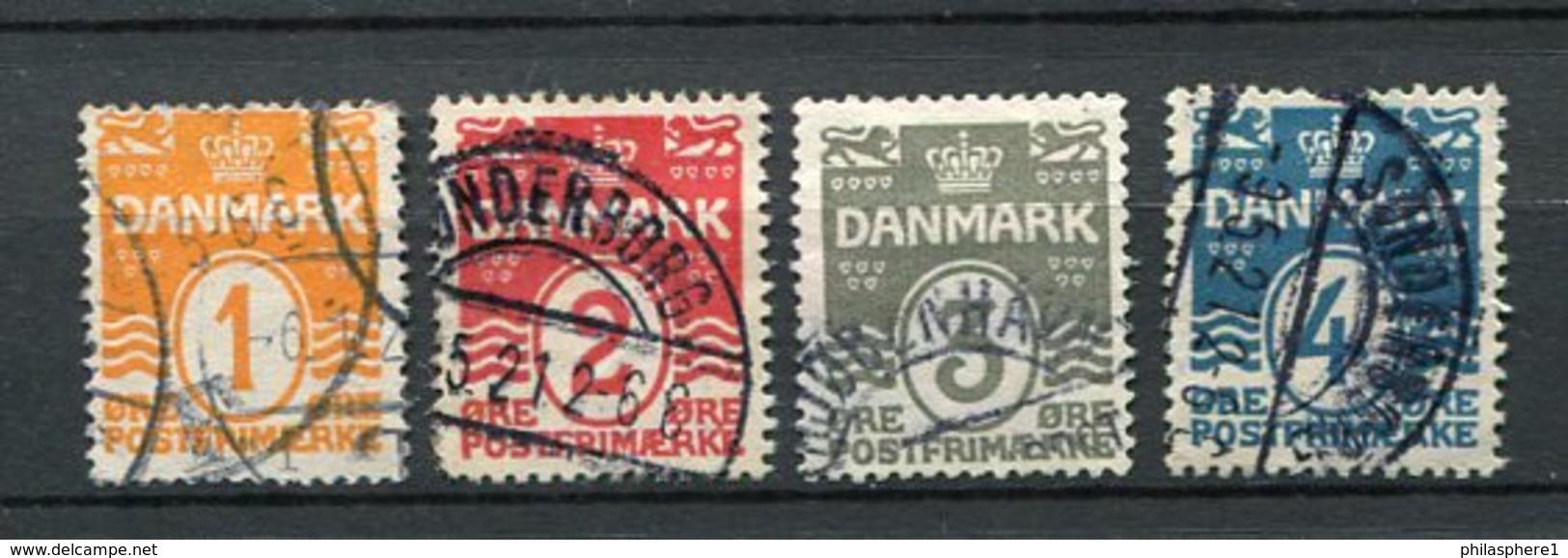 Dänemark Nr.77/80        O  Used           (629) - 1913-47 (Christian X)