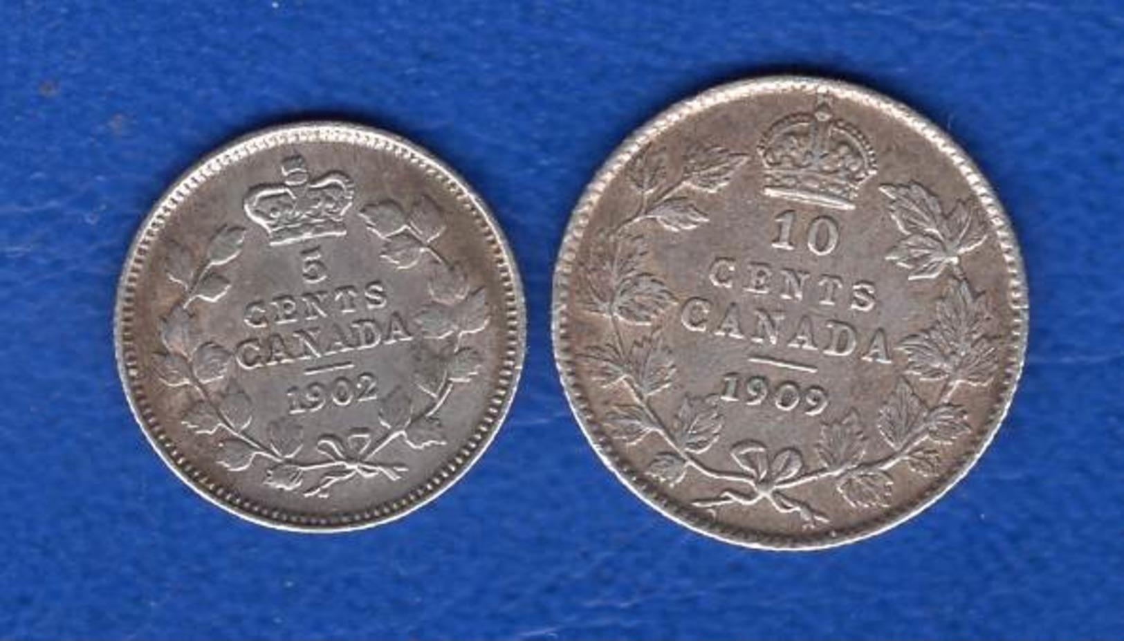 Canada  2  Pieces  1902+1909  Arg - Canada