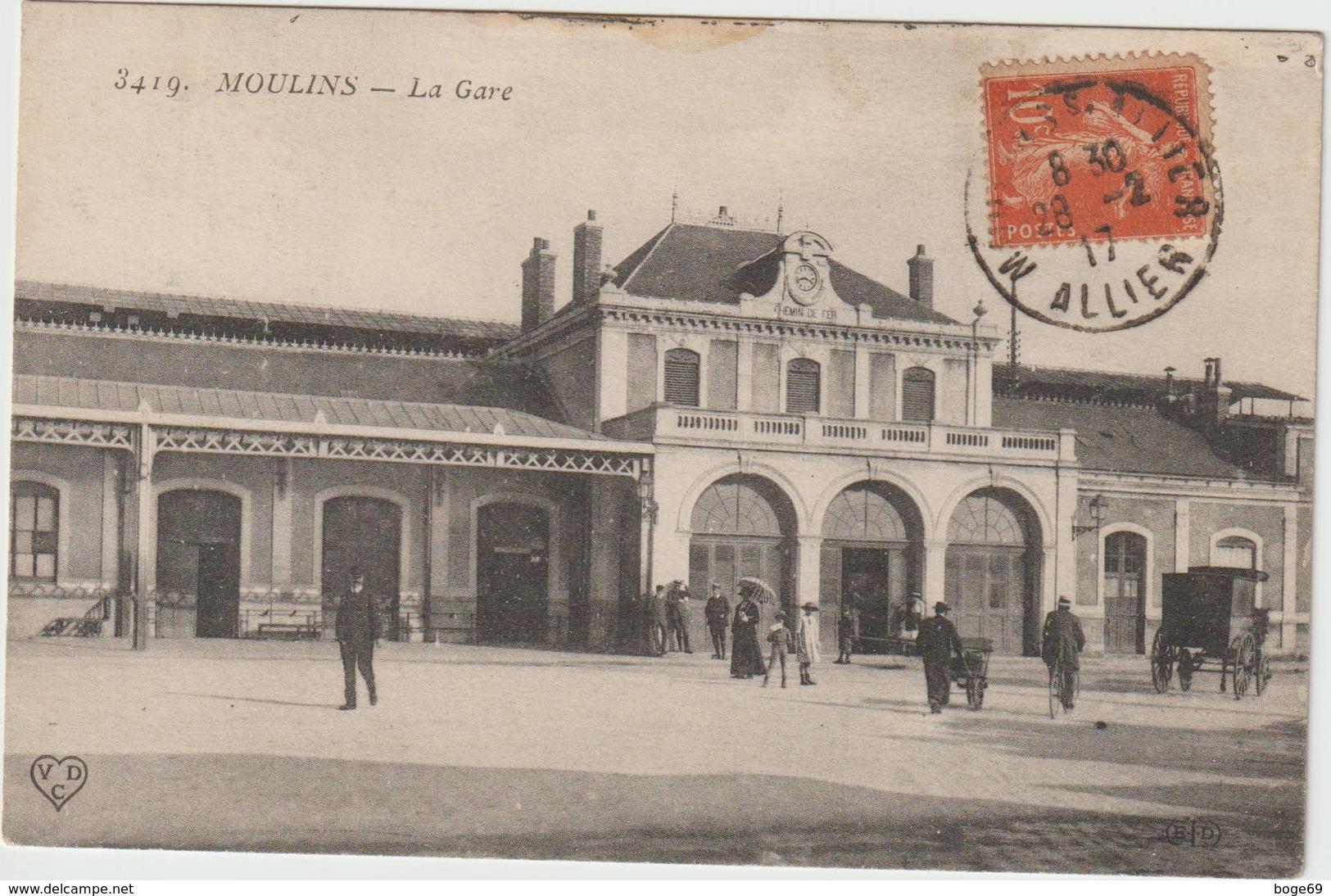 (pdd) ALLIER  , MOULINS , La Gare - Moulins