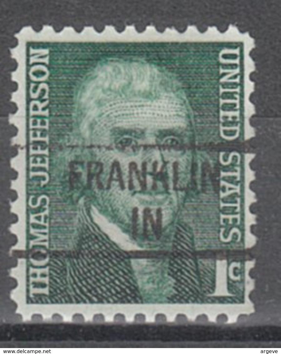 USA Precancel Vorausentwertung Preo, Locals Indiana, Franklin 841 - Vereinigte Staaten