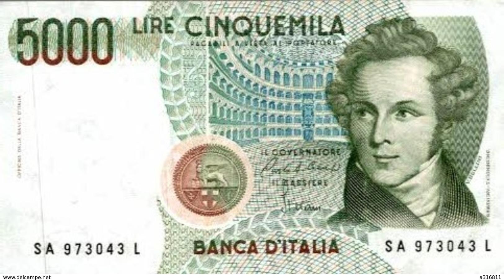 5000 LIRE CINQUEMILA - [ 2] 1946-… : République