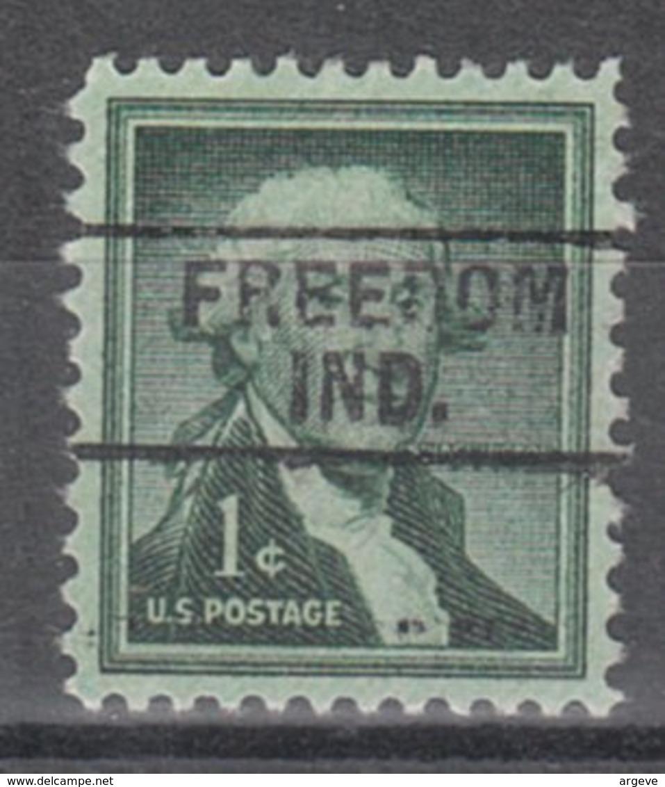 USA Precancel Vorausentwertung Preo, Locals Indiana, Freedom 745 - Vereinigte Staaten