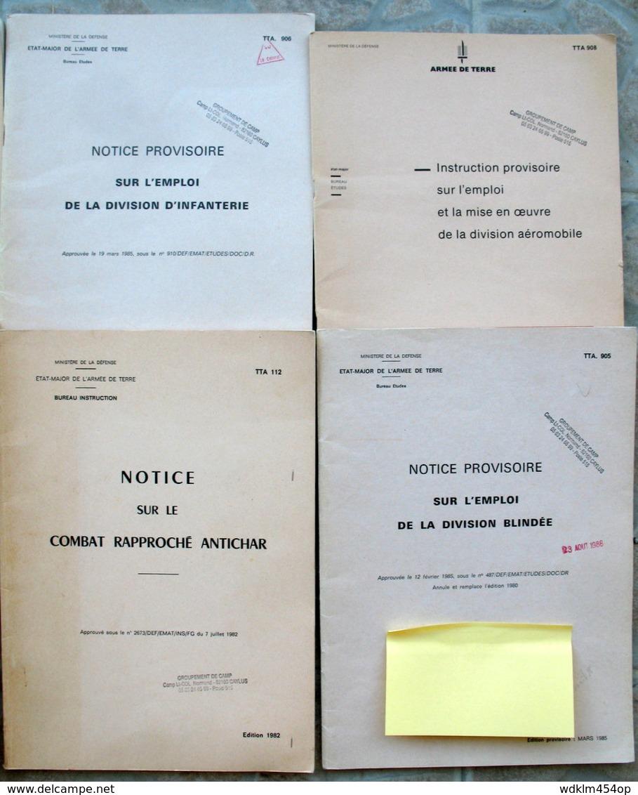 LOT MILITAIRE ABC BLINDE INFANTERIE AEROMOBILE FORCES ALLEMANDES CAC COMBAT ANTI CHAR / COMBAT NUIT ABC BLINDES MECANISE - Livres, Revues & Catalogues