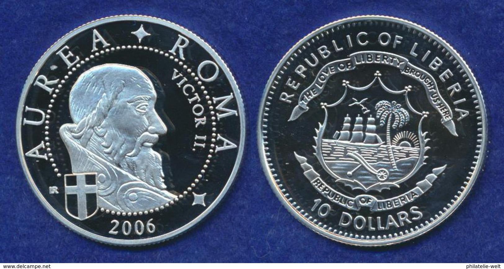 Liberia 10 Dollars 2006 Viktor II. Ag999 20g - Liberia