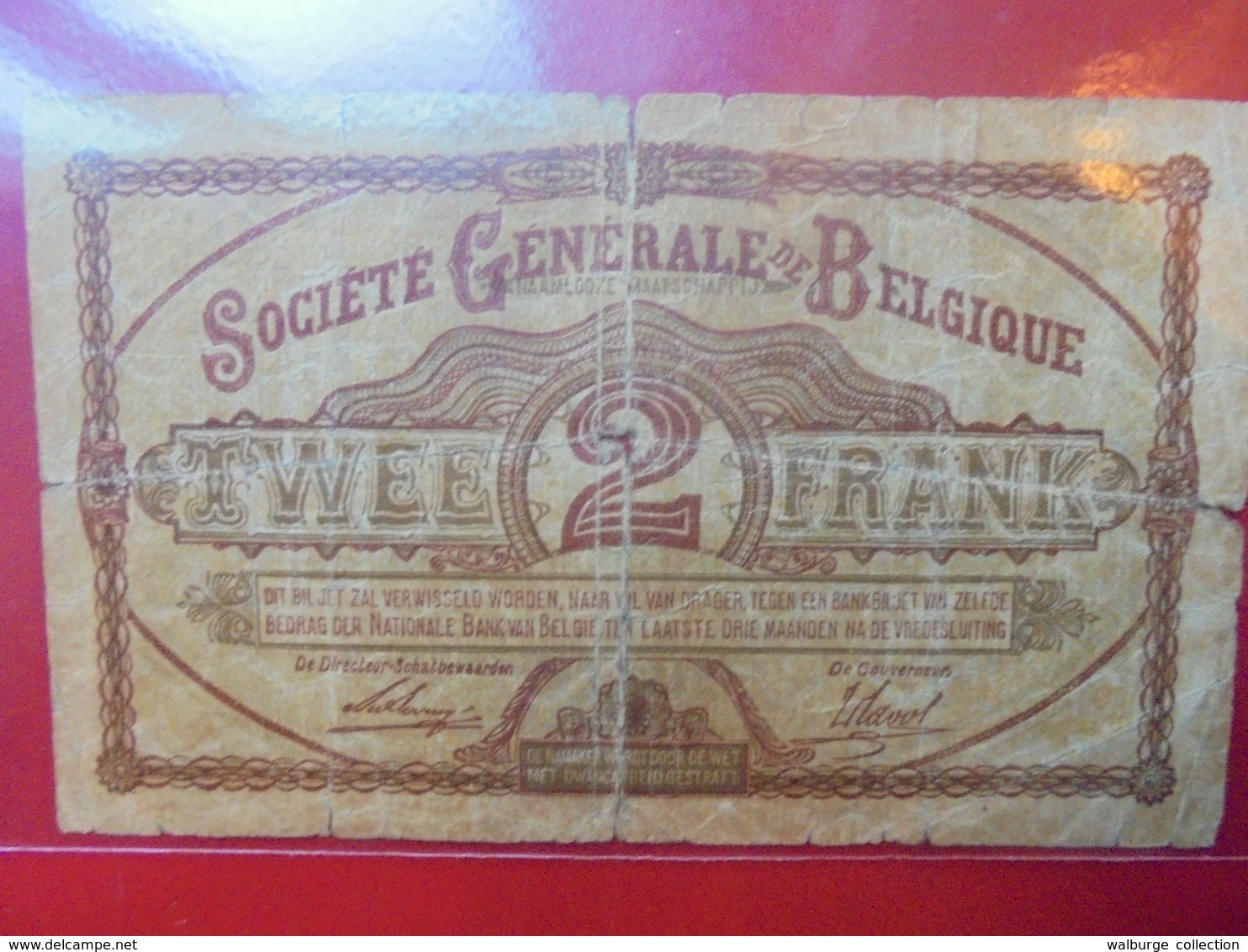 BELGIQUE 2 FRANCS 1915 CIRCULER - [ 3] German Occupation Of Belgium
