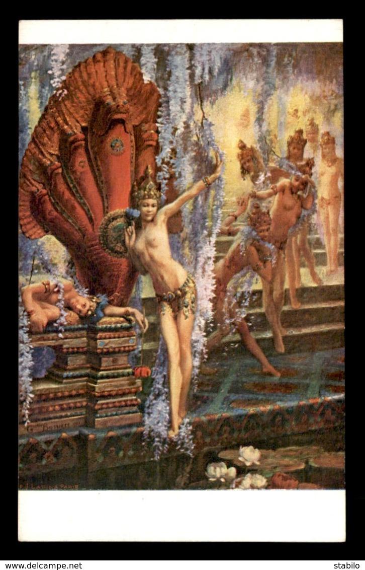 ILLUSTRATEURS - NU - TABLEAU DE G. BUSSIERE - AU SEUIL DU REVE  - EDITION LAPINA N°5416 - Autres Illustrateurs