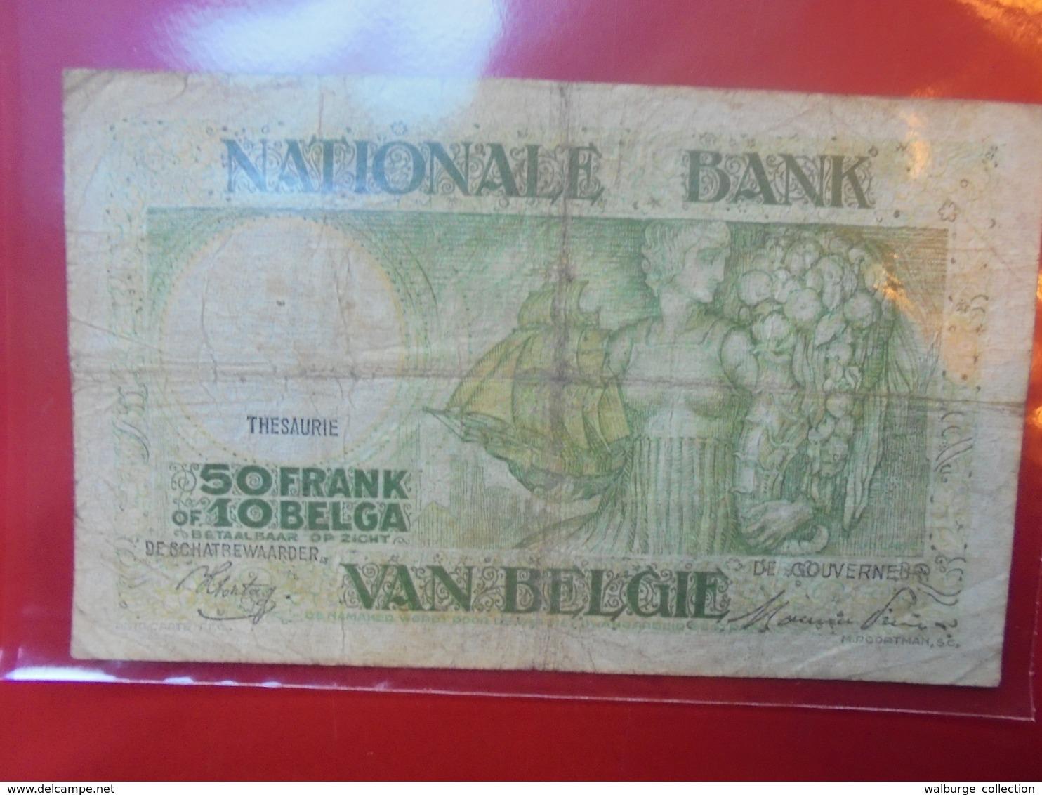 BELGIQUE 50 FRANCS 1944 CIRCULER - 50 Francs