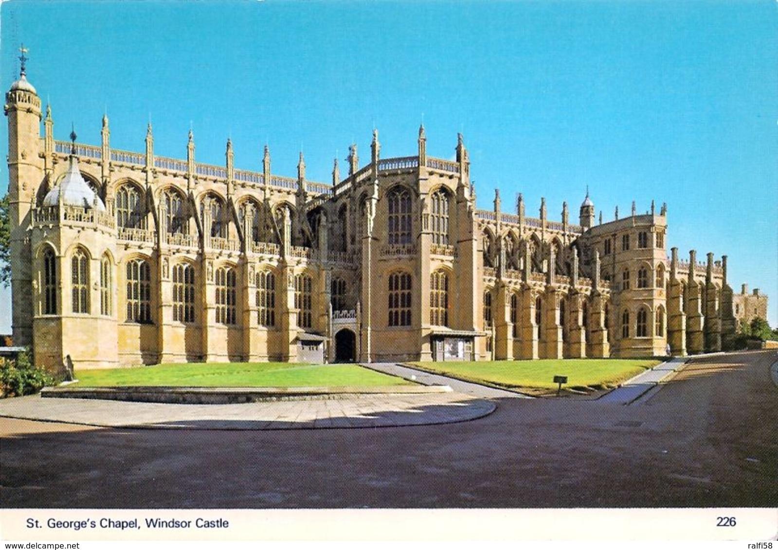 1 AK England * St. Georg's Chapel In Windsor Castle - Erbaut Im 15. Jahrhundert - Grafschaft Berkshire * - Windsor Castle
