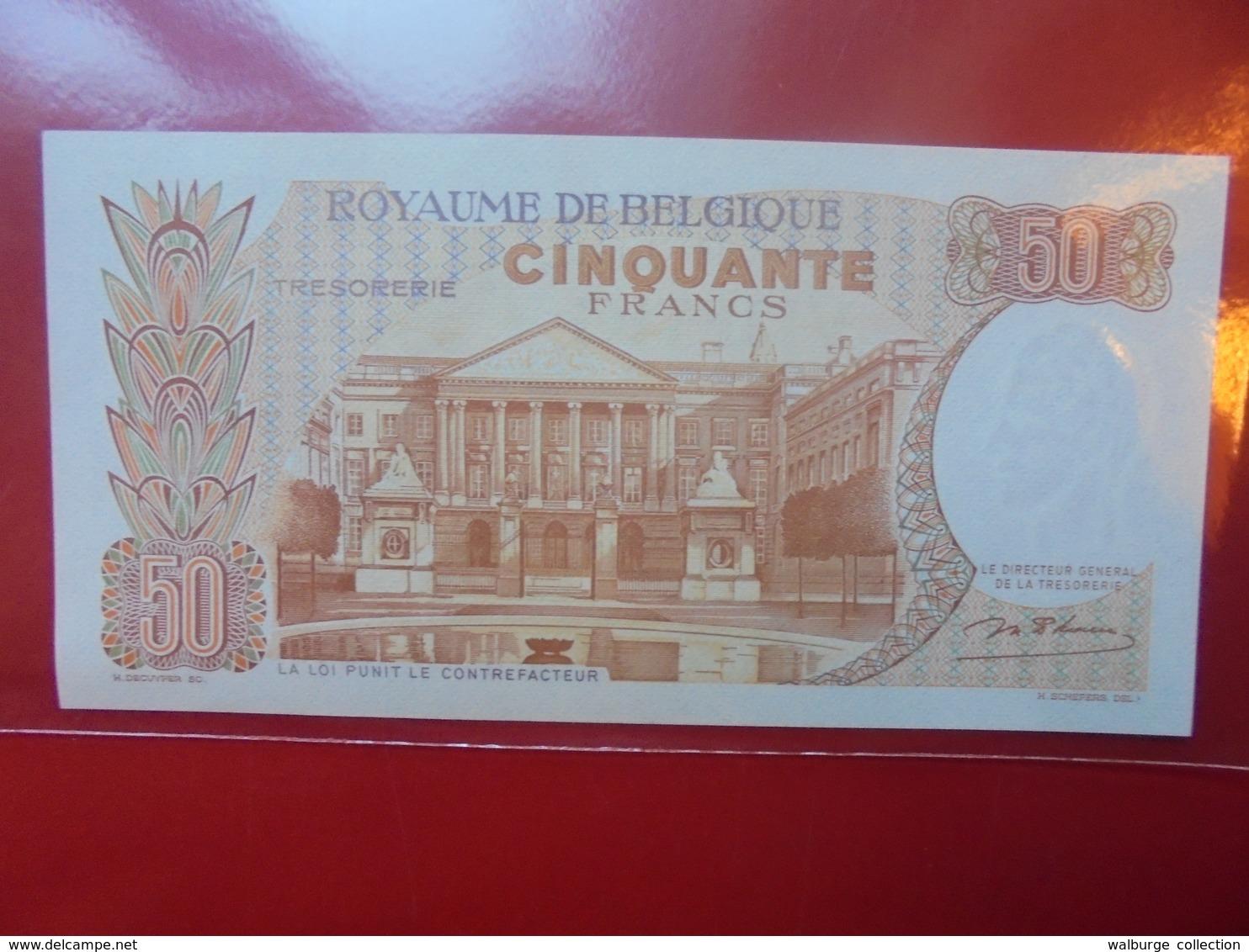 BELGIQUE 50 FRANCS 1966 CIRCULER TRES BELLE QUALITE ! - [ 6] Trésorerie
