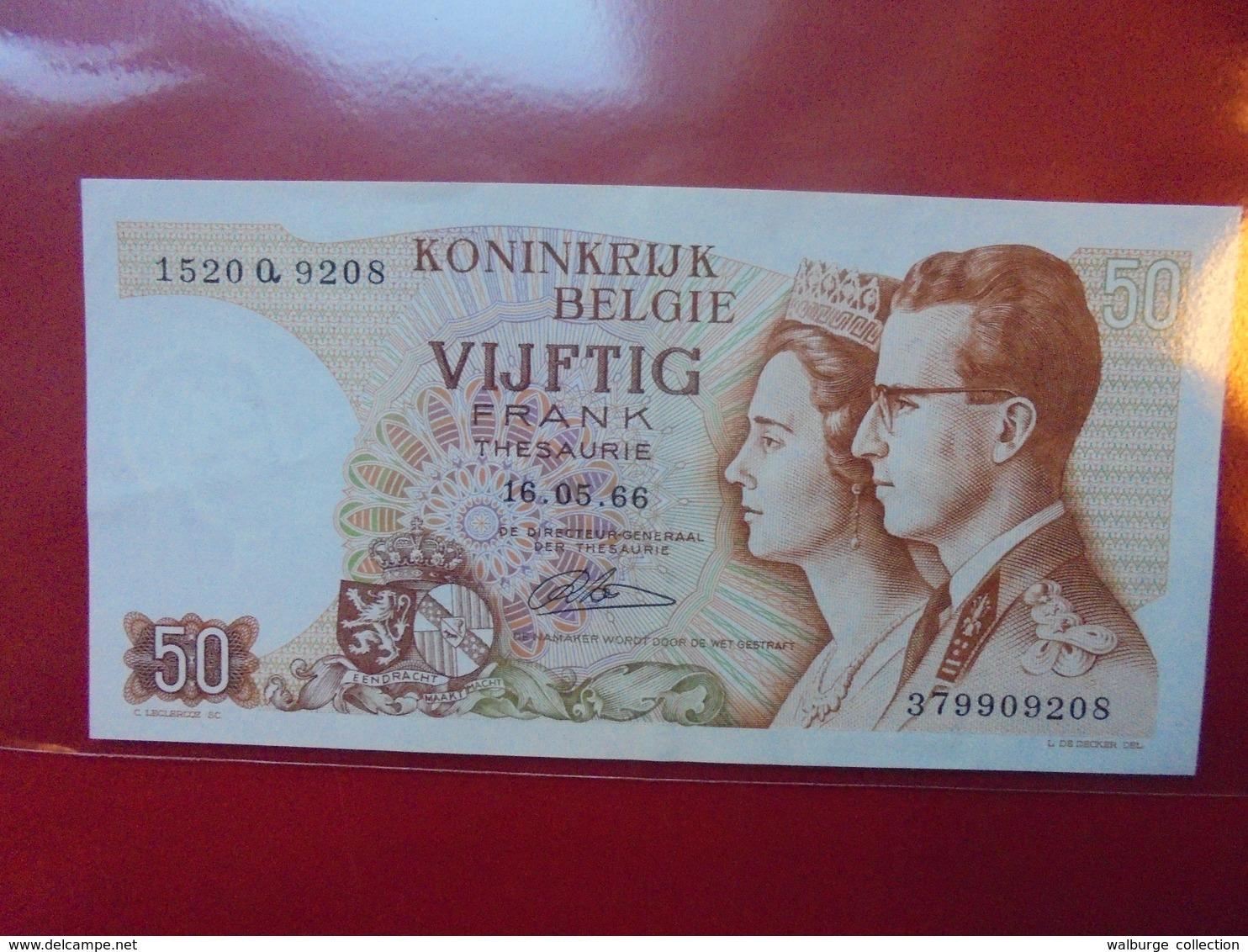 BELGIQUE 50 FRANCS 1966 CIRCULER  BELLE QUALITE ! - 50 Francs