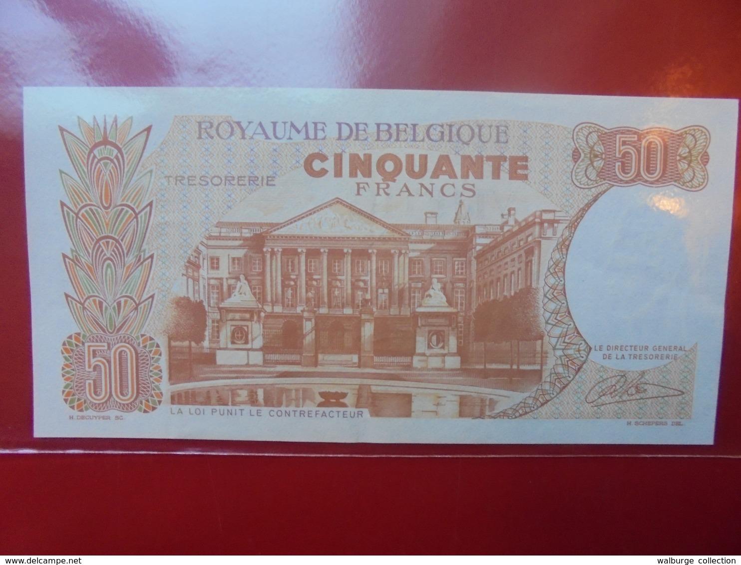 BELGIQUE 50 FRANCS 1966 CIRCULER  BELLE QUALITE ! - [ 6] Trésorerie