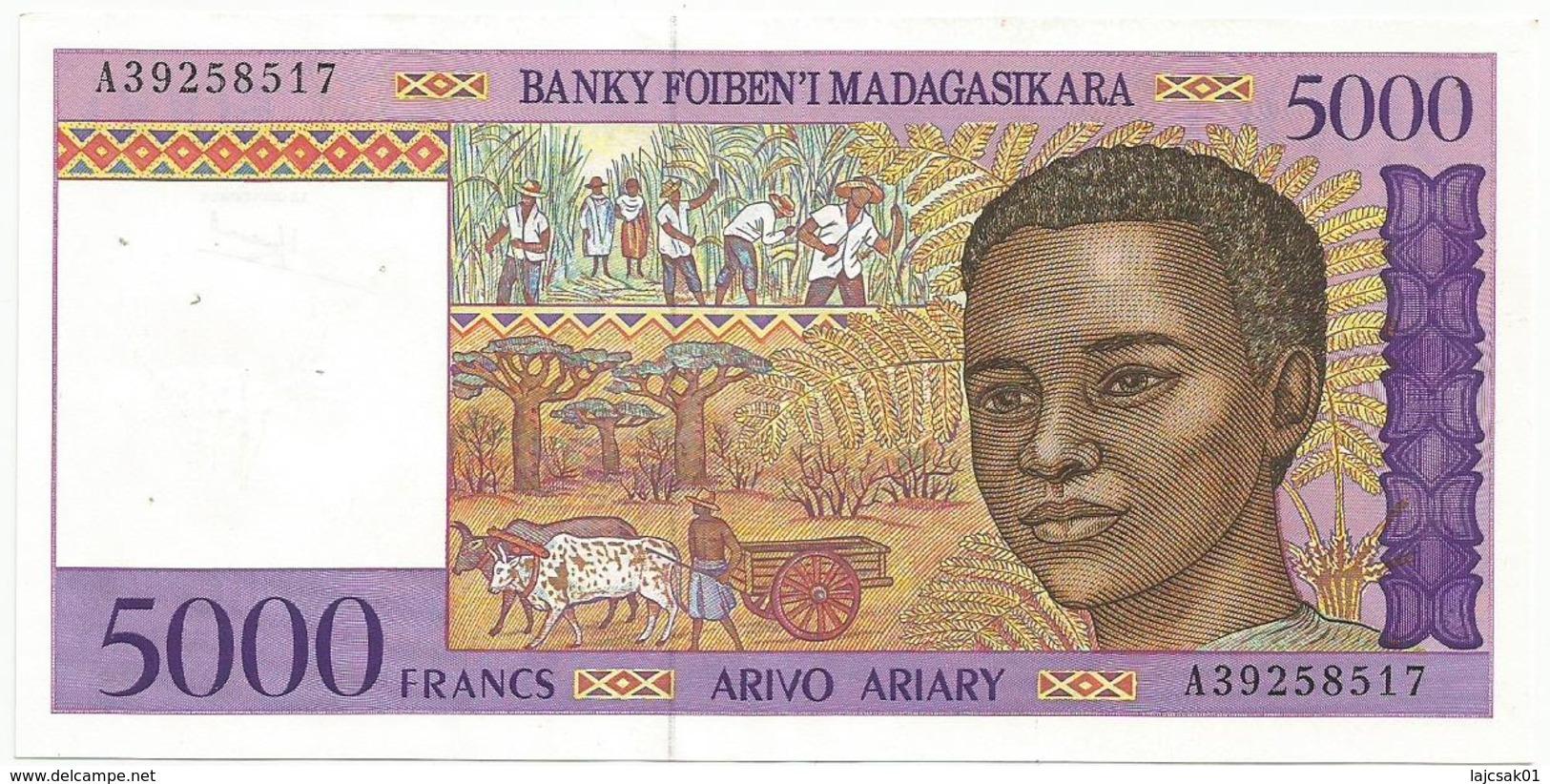 Madagascar 5000 Francs = 1000 Ariary 1994/95 ND - Madagascar