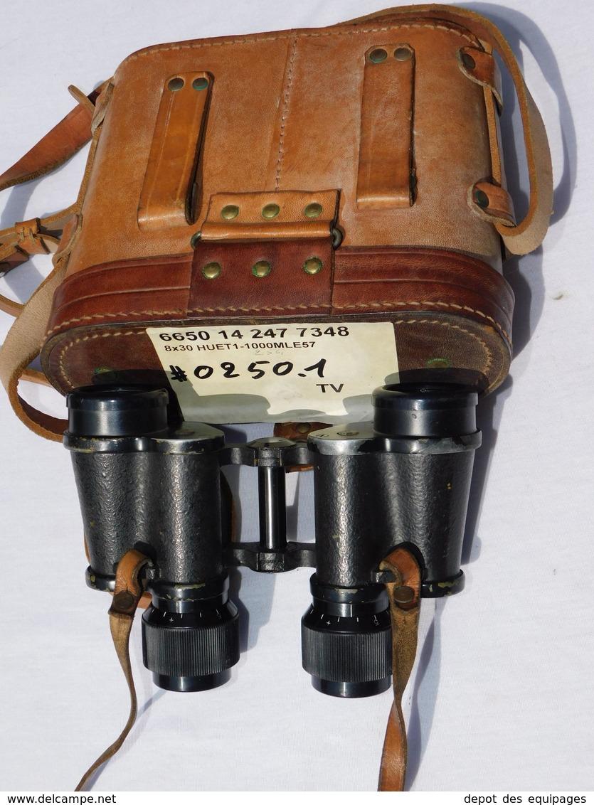RARES JUMELLES HUET 8 X 30 MARINE FRANCAISE Modéle 1957 + ETUI CUIR Au Même Numéro #.250 - Optics