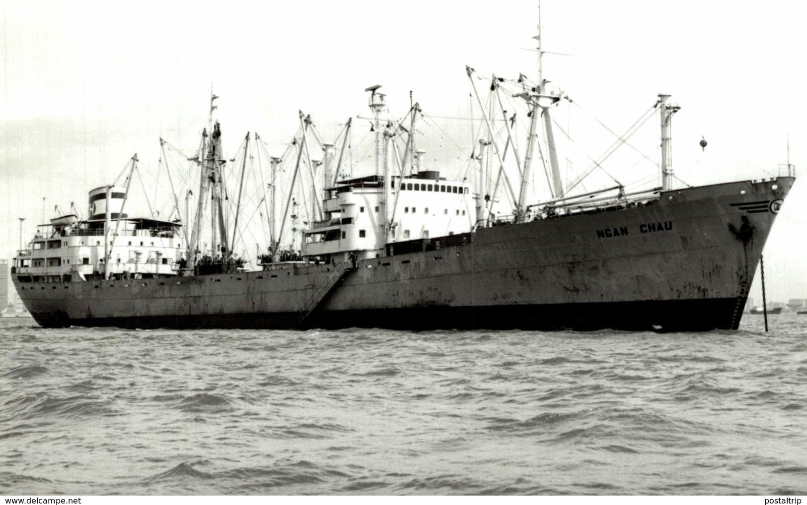 Ngan Chau +-14  * 9 CM BARCO BOAT Voilier - Schiffe