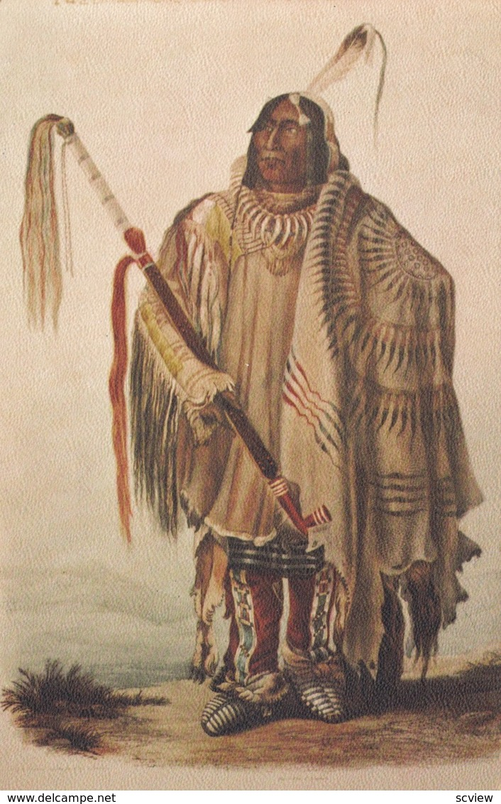PEHRISKA-RUHPA, Hidatsa (Minitari) Chief , American Indian Museum , NYC , 1940s - Indiens De L'Amerique Du Nord