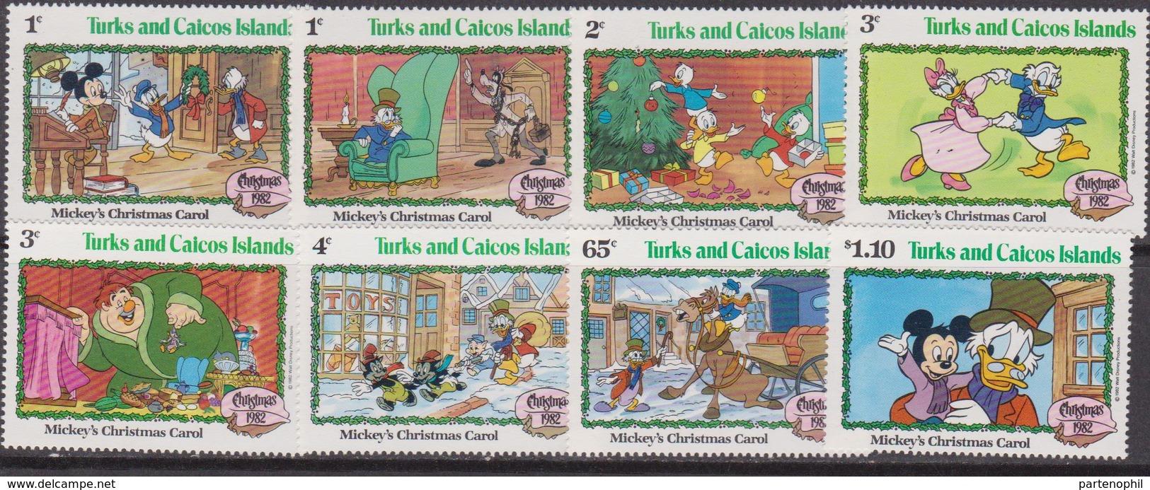 Turks And Caicos Is.   - 1982 Christmas Navidad Natale DISNEY Set MNH - Turks E Caicos