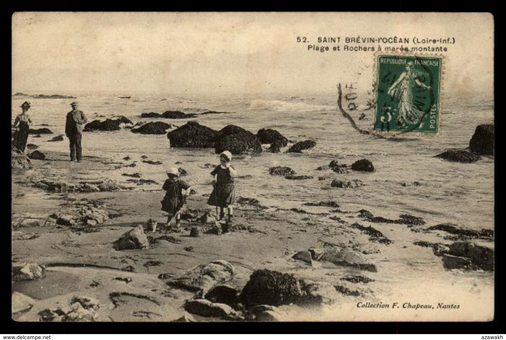 44 - Saint-Brevin-les-Pins - Paimbœuf Saint-Brévin-l'océan - 52 Plage Et Rochers à Marée Montante Fillettes #05429 - Saint-Brevin-l'Océan