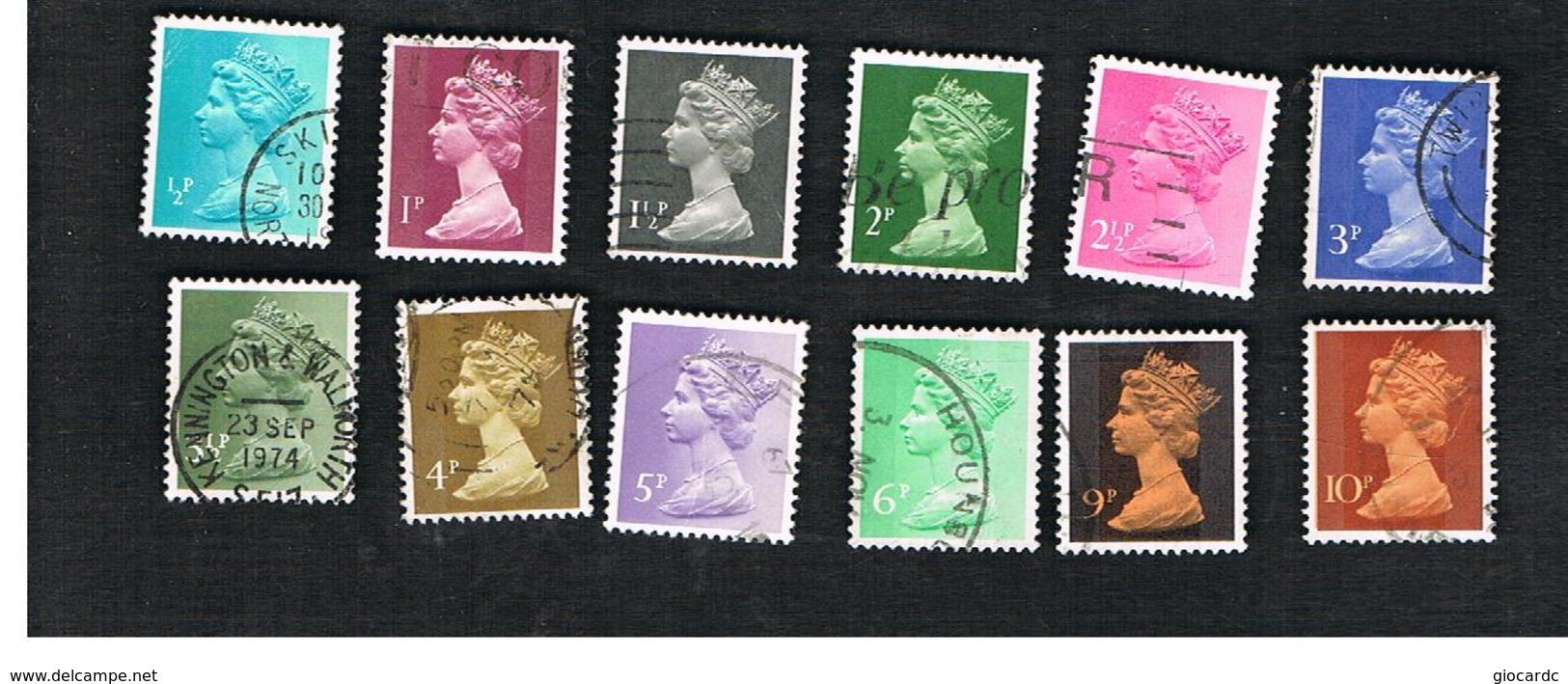 GRAN BRETAGNA (UNITED KINGDOM) -  SG X841.885 -  1971 QUEEN ELIZABETH II   - USED° - Usati