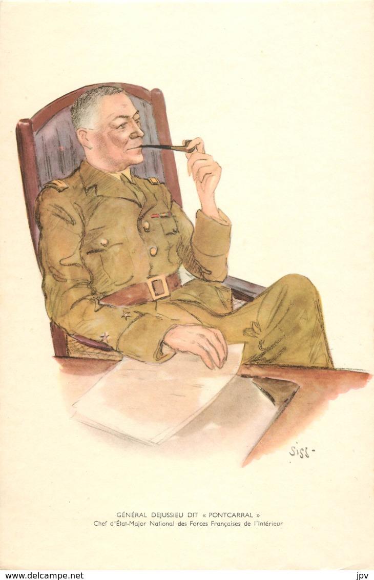 """GENERAL DEJUSSIEU DIT """"PONTCARRAL"""" - Chef D'Etat-Major National Des Forces Françaises De L'Intérieur - Né à LYON - 1939-45"""