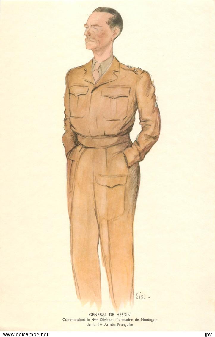 GENERAL RENE DE HESDIN - Commandant La 4me Division Marocaine De Montagne De La 1re Armée Française Né à CHAILLY En BRIE - 1939-45