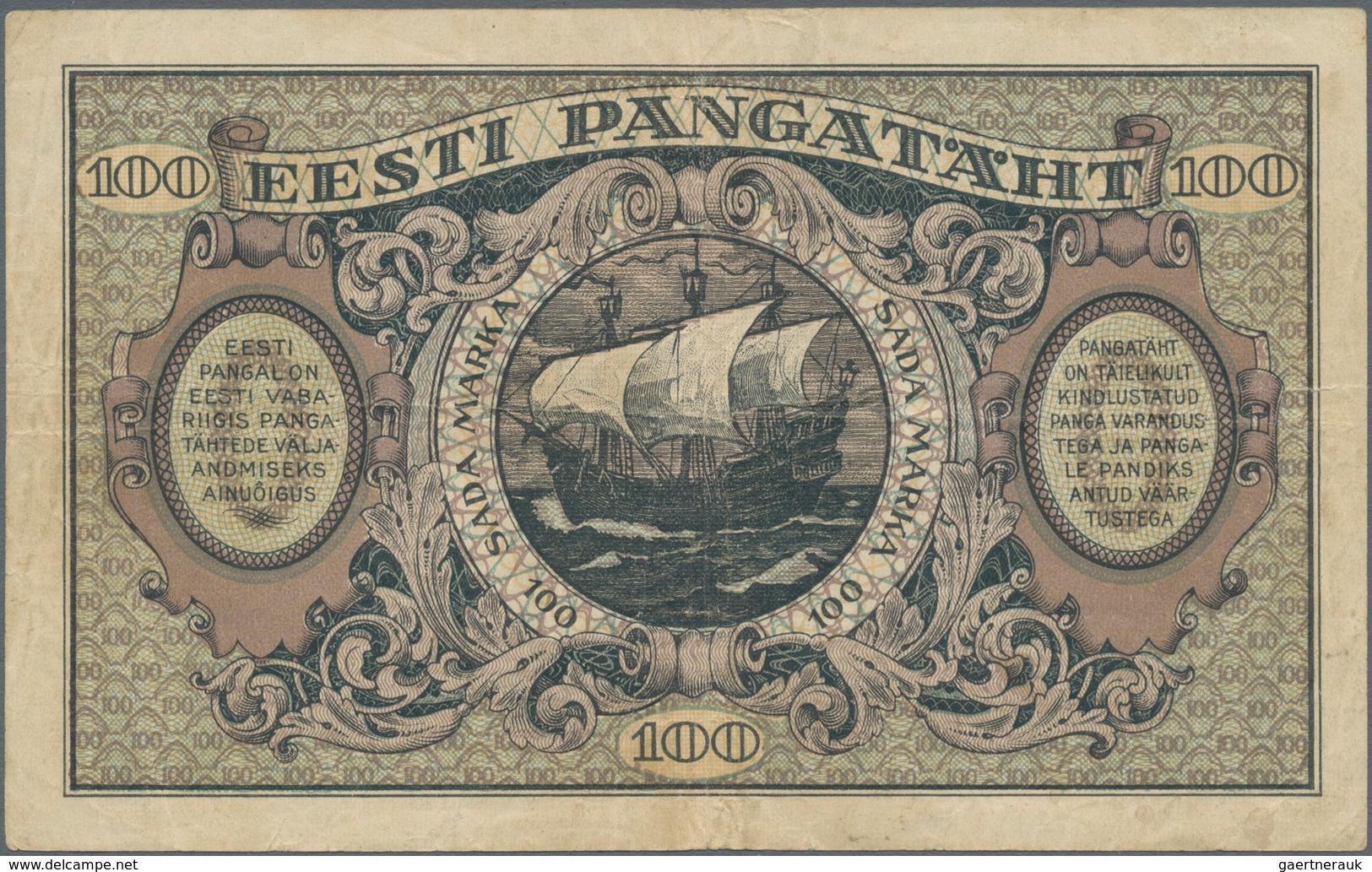 Estonia / Estland: 100 Marka 1922, P.58a, Seldom Offered And Rare Banknote, Still Nice Condition Wit - Estonia