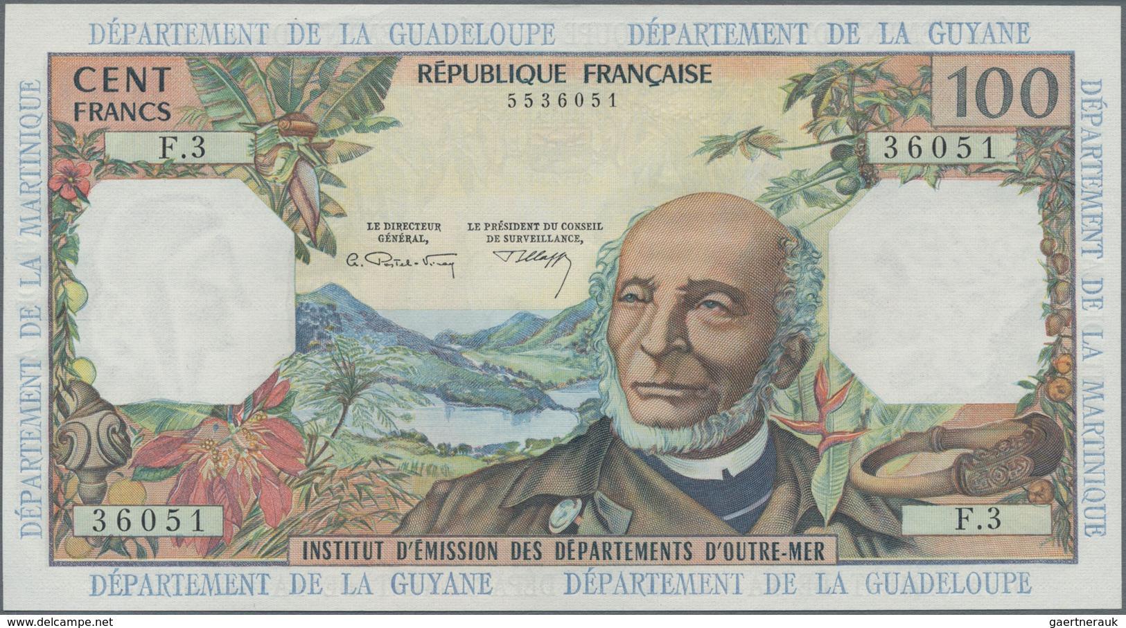 French Antilles / Französische Antillen: Institut D'Émission Des Départements D'Outre-Mer 100 Francs - Banknotes