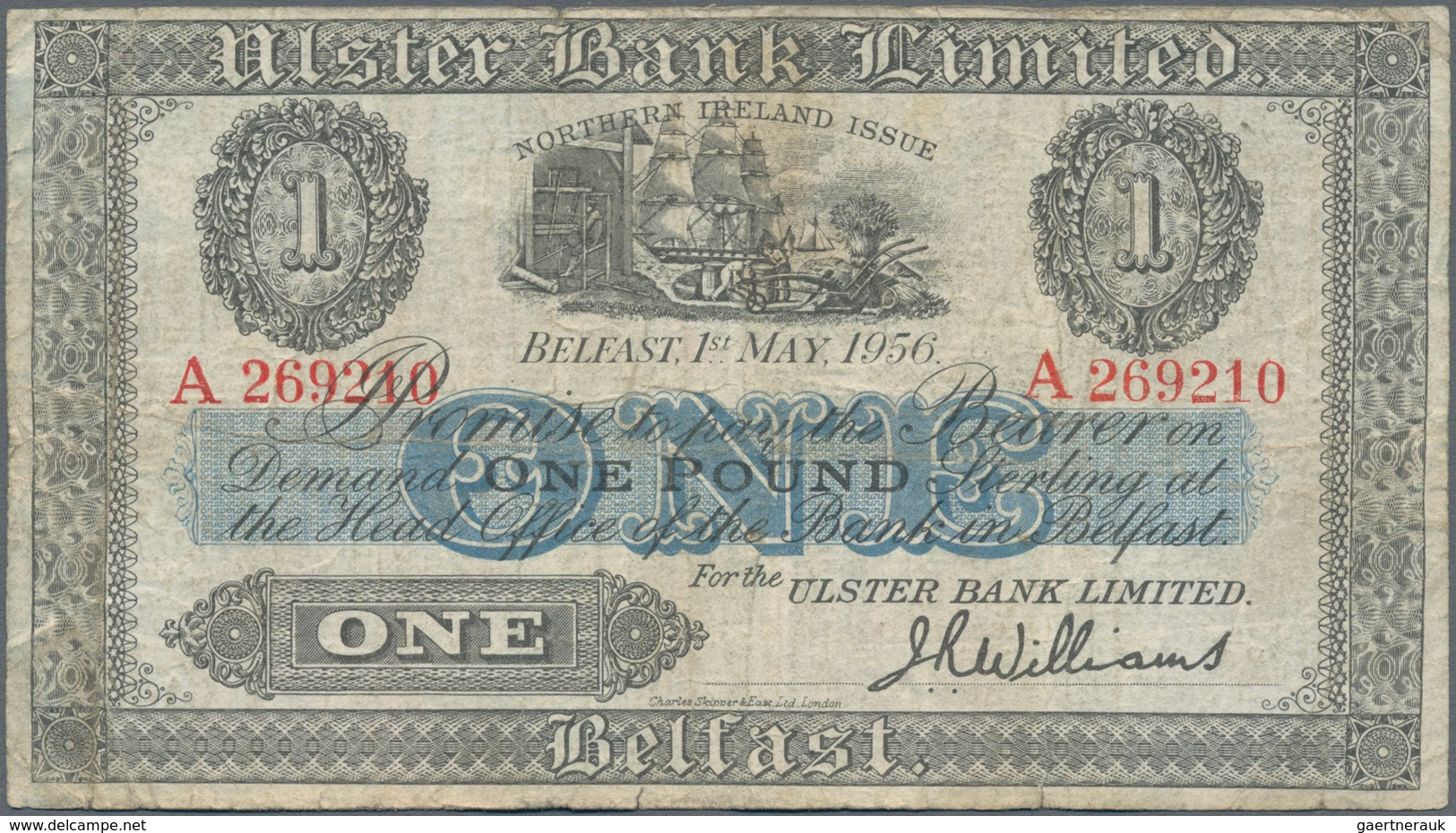 Northern Ireland / Nordirland: Lot With 5 Banknotes Northern Bank Limited 1 Pound 1929 And 10 Pounds - [ 2] Ireland-Northern