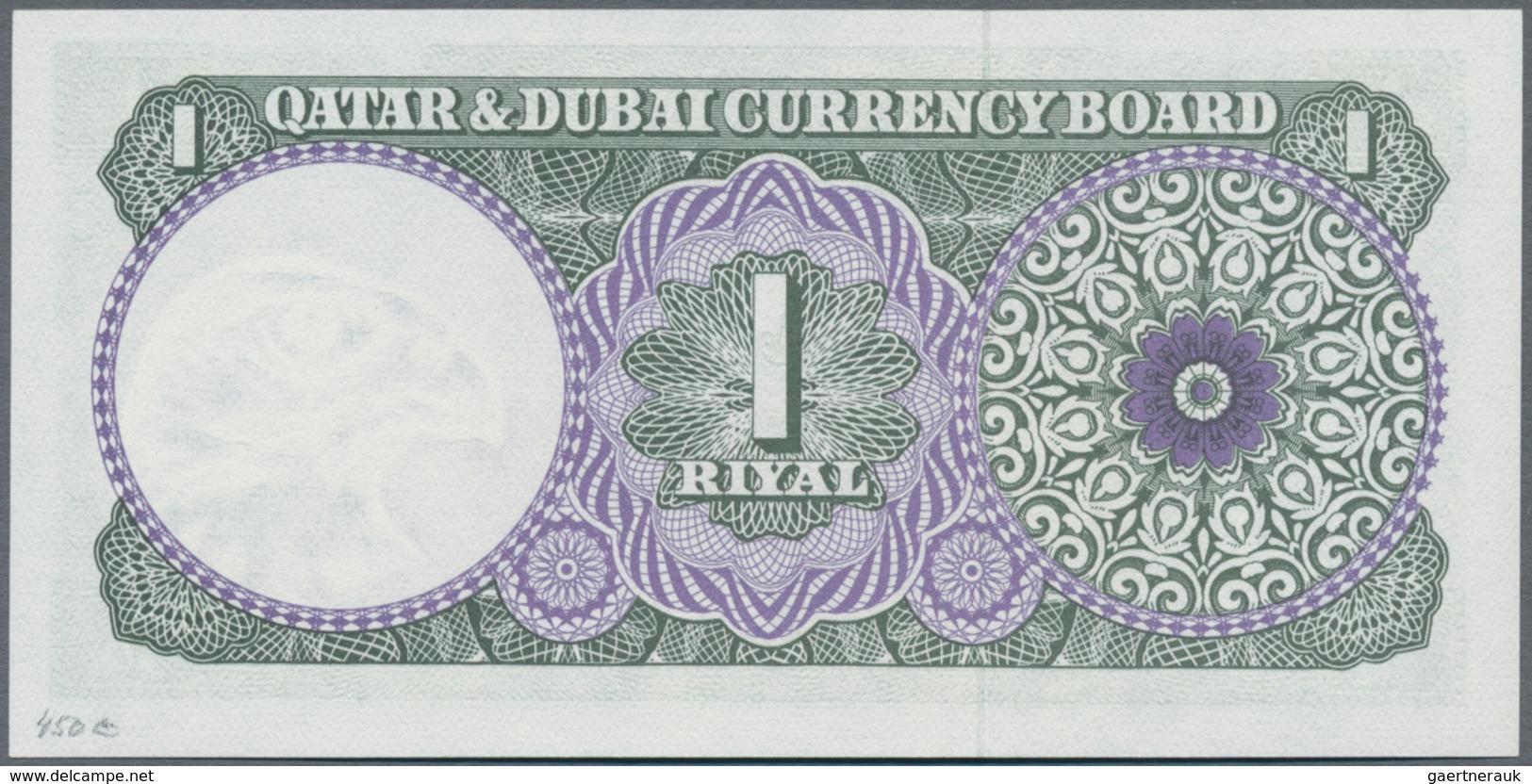 Qatar & Dubai: 1 Riyal ND(1960's), P.1 In Perfect UNC Condition - United Arab Emirates