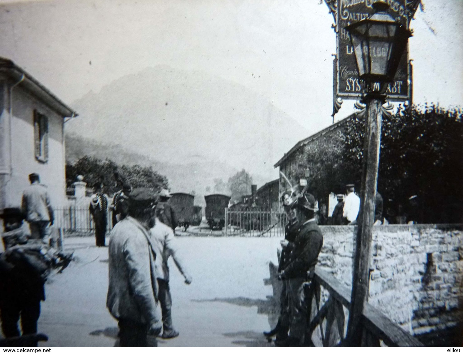 Rare! Belle Photo Ancienne Vers 1890 Monte Generoso Gare Train Italie Italia Suisse Switzeland - Photographs