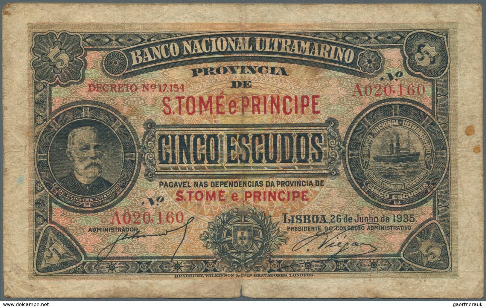 Saint Thomas & Prince / Sao Tome E Principe: Banco Nacional Ultramarino, Provincia De S. Tome E Prin - São Tomé U. Príncipe
